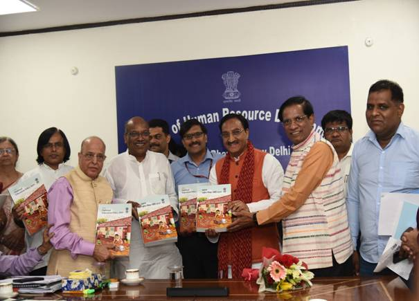 Dr. K. Kasturirangan Committee submits the Draft National Education Policy to the Union HRD Minister 1