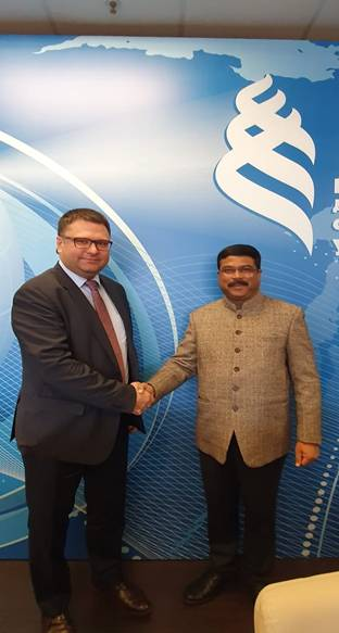 Shri Dharmendra Pradhan meeting with the Russian minister to enhance bilateral cooperation 1