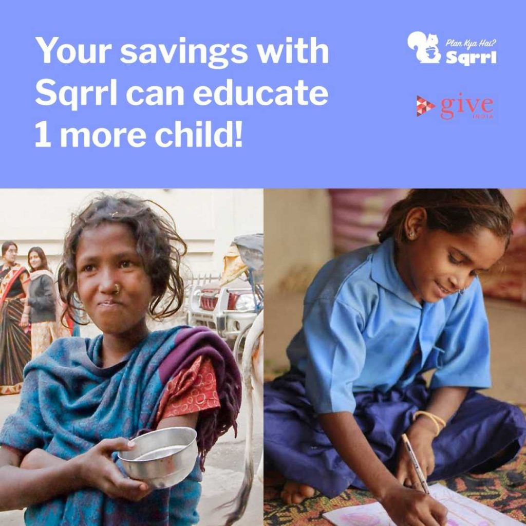 Sqrrl, A Fin-Tech Start-up Is On 'Mission 200' For The Betterment of Underprivileged Children 1