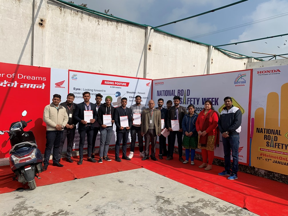 Honda 2Wheelers concludes the biggest ever road safety campaign 1