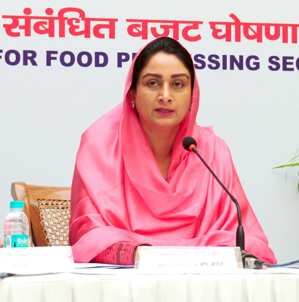 President of India, as advised by the Prime Minister, has accepted the resignation of Smt. Harsimrat Kaur Badal 1