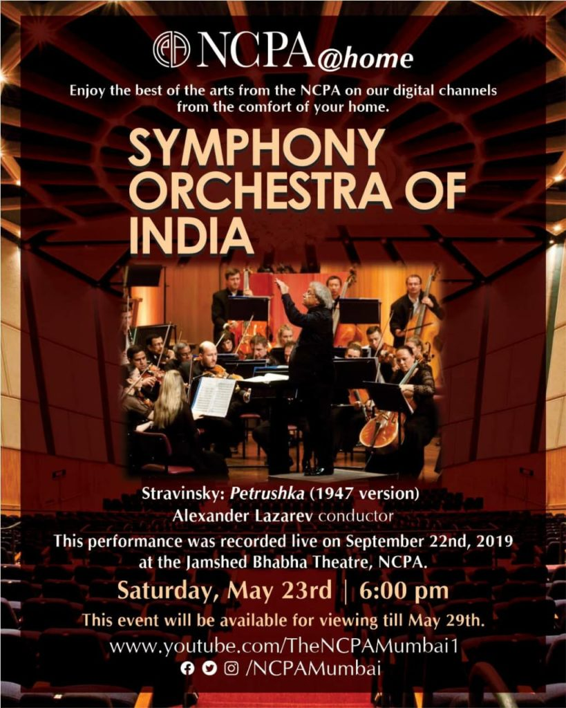 NCPA@home presents a spellbinding performance by the Symphony Orchestra of India with Russia's foremost conductor Alexander Lazarev 1