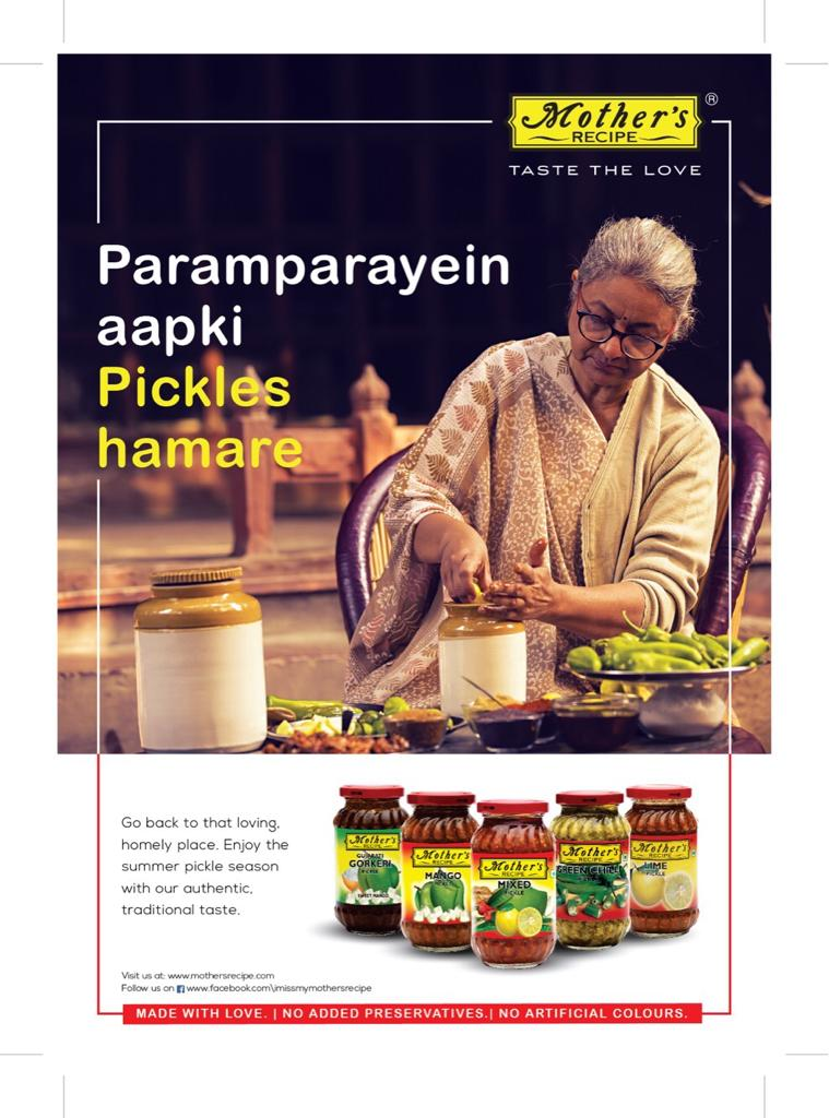 Mother's Recipe campaign 'Your Traditions Our Pickles' 1