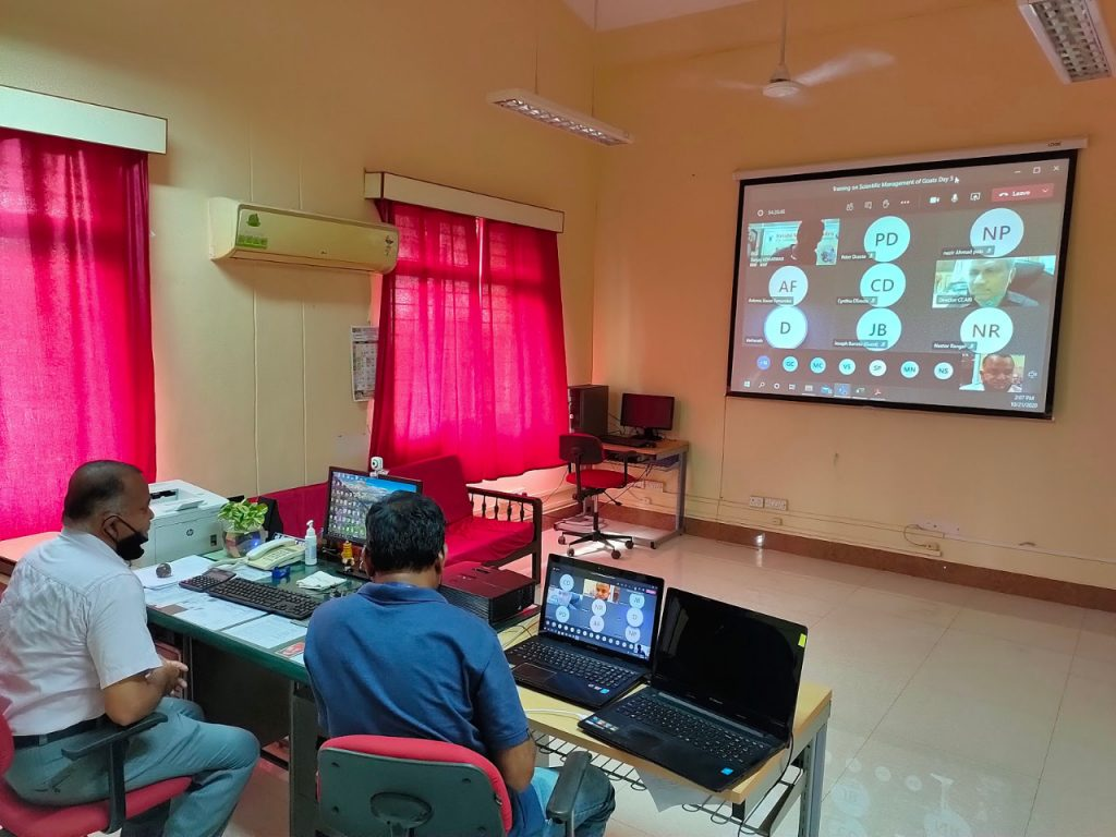 """Online Vocational Training on """"Scientific management of Goats"""" 1"""