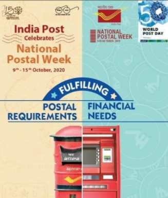 Department of Posts celebrates National Postal week from 9th October, 2020 to 15th 1