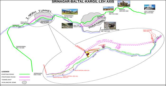Tunnel will ensure all-weather connectivity between Srinagar valley and Leh on NH-1 1