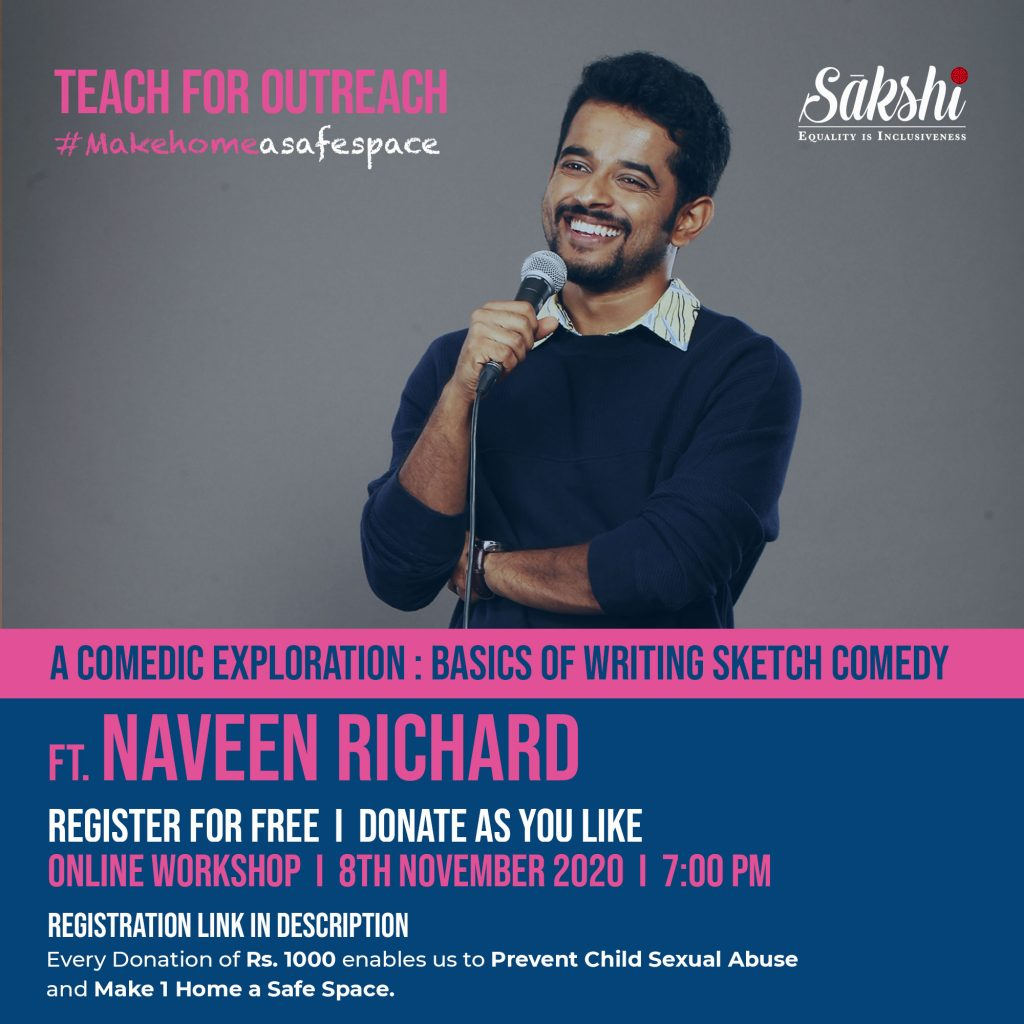 Sakshi-a rights-based NGO Initiates 'Teach For Outreach' For Learning & Fundraising Together 1