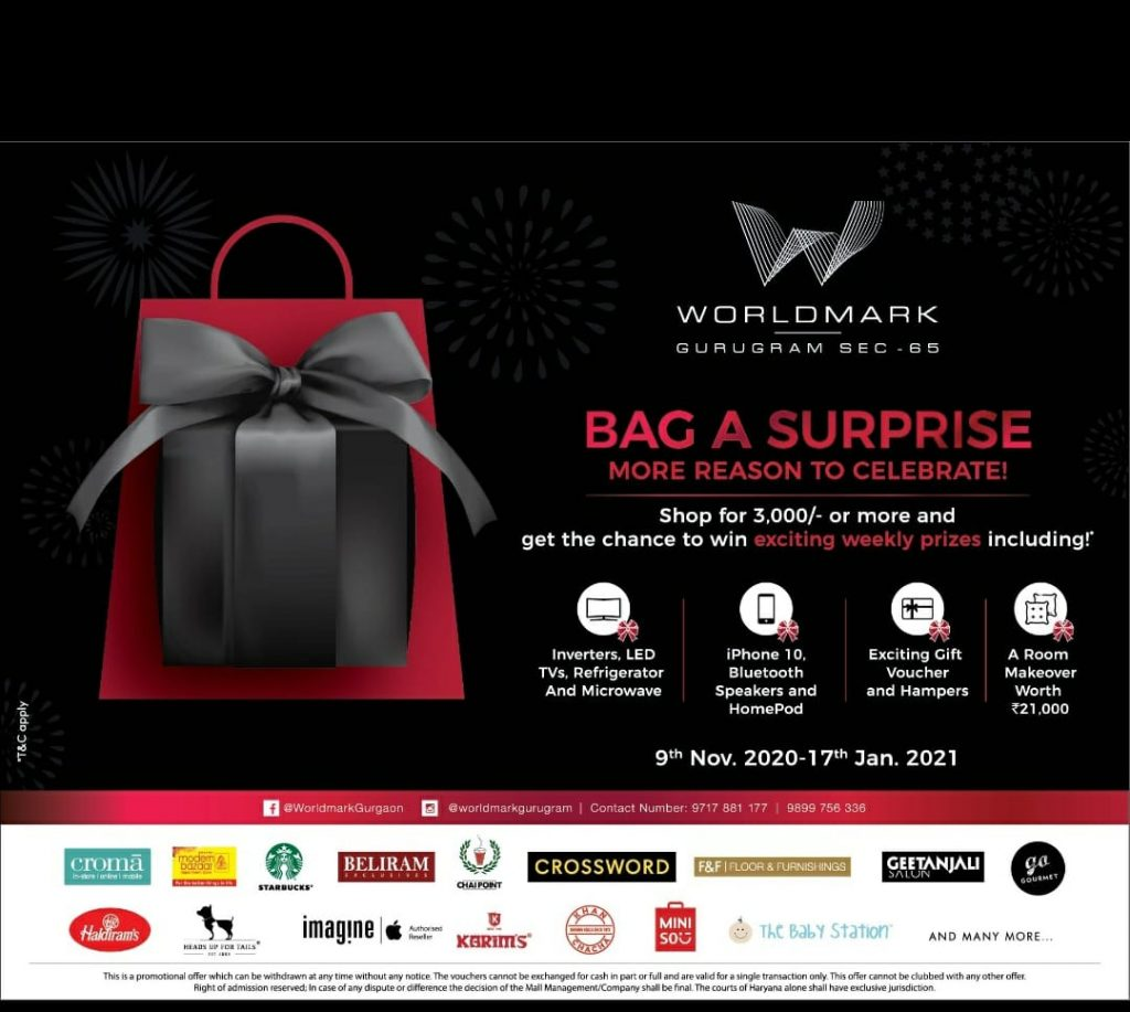 Bharti Realty offers the opportunity to shop small and win big at Worldmark Aerocity and Gurugram 1