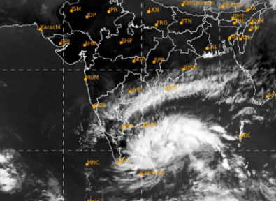 NIVAR over southwest Bay of Bengal moved west-northwestwards with a speed of 11 kmph 1