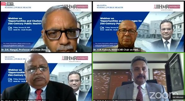 IIHMR University Organized a webinar on 'Opportunities and Challenges for 21st Century Public Health' 1