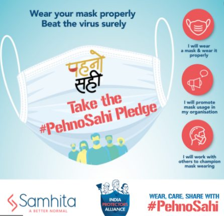 India Protectors Alliance unites companies to bring the focus back on mask wearing with #PehnoSahi 1