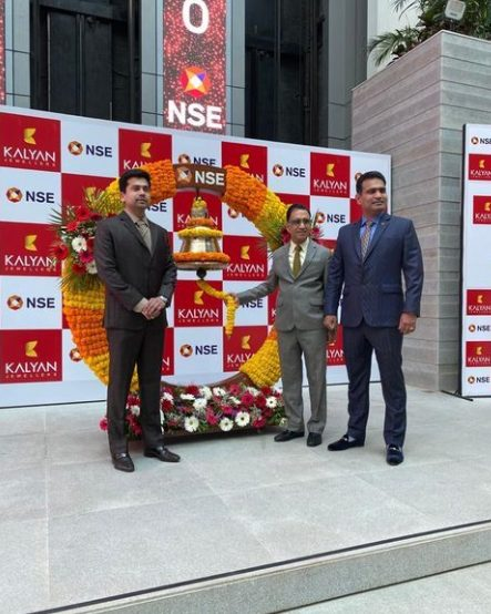 Kalyan Jewellers successfully listed on the National Stock Exchange 1