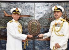 Vice Admiral takes over as the Flag Officer Commanding-in-Chief, ENC 14
