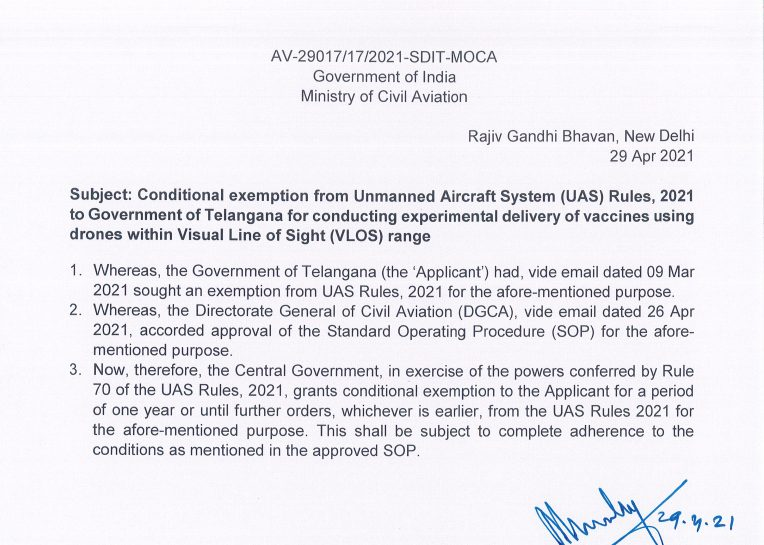 ICMR given permission for study of Vaccine delivery using drones 1