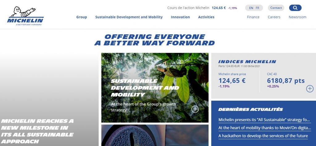 """Michelin presents its """"All Sustainable"""" strategy for 2030: Michelin In Motion 1"""
