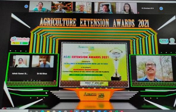 NMSHE's ICAR Team awarded for agricultural information dissemination in Leh 1