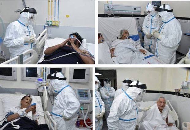 Dr Harsh Vardhan reviews preparedness of AIIMS New Delhi in light of recent surge of COVID19 cases in the Capital 1