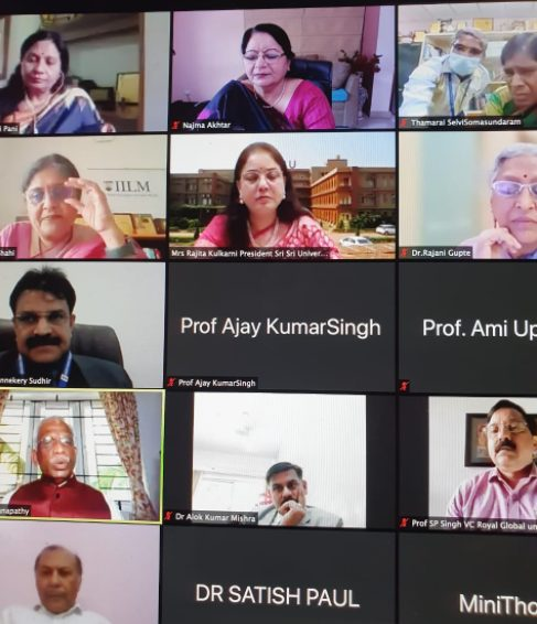 JMI VC share her views and suggestions on Implementation of NEP 2020 in AIU's National Webinar 1