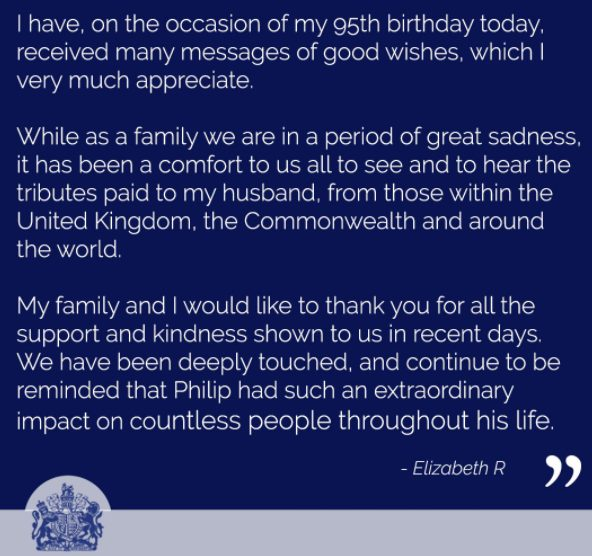 Queen's message to people across the world on her 95th Birthday 1