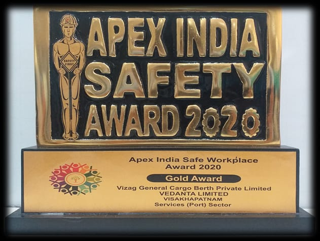 Vedanta's VGCB bags Gold Award for safe workplace management at Apex India Health and Safety Conference 1