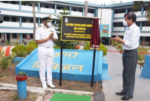 150 Bed Covid Care Centre established by Indian Navy at Khurda District In Odisha 1
