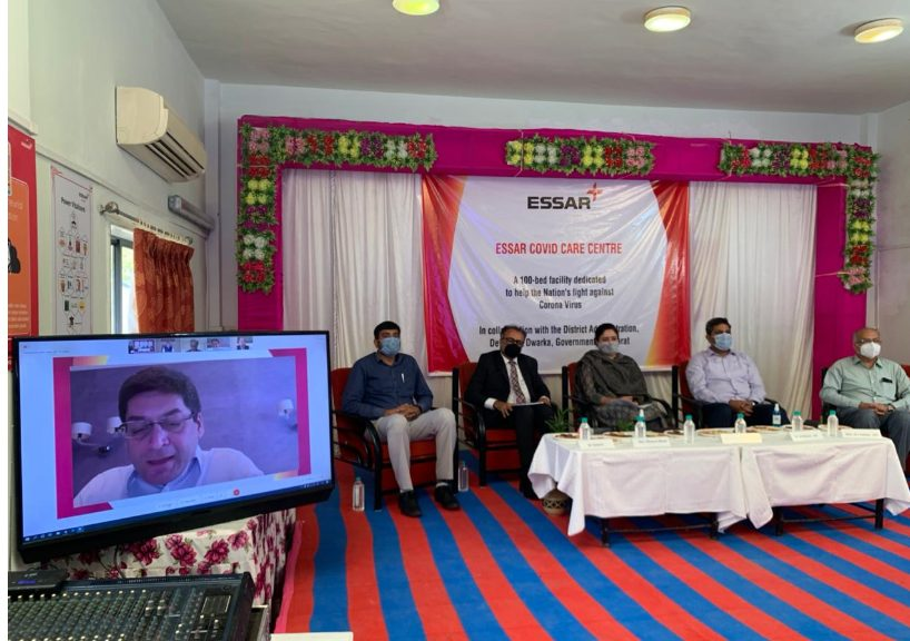 Essar sets up a 100 Bed Covid Care Centre with Oxygen support at Devbhumi Dwarka district 1