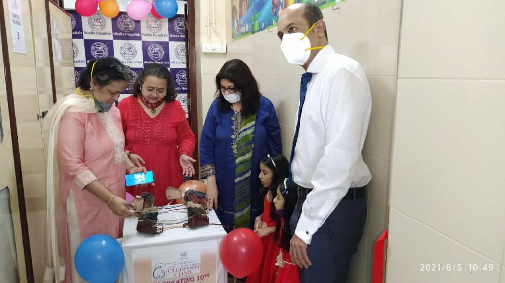 Bai Jerbai Wadia Hospital For Children Launched Brace Bank and Self Sufficient Clinic Scheme Inaugurated by twins Riddhi-Siddhi 1