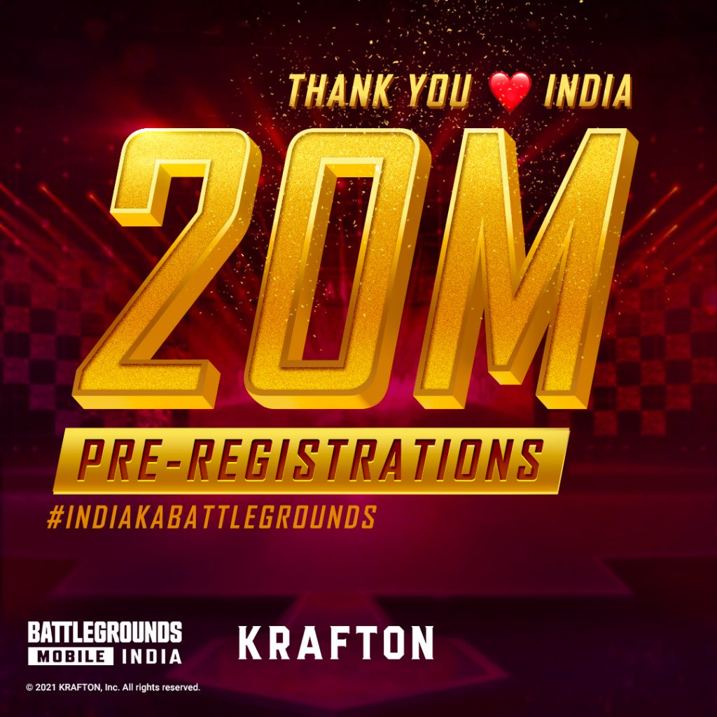KRAFTON thanks Indian Fans for overwhelming response to BATTLEGROUNDS MOBILE INDIA 1