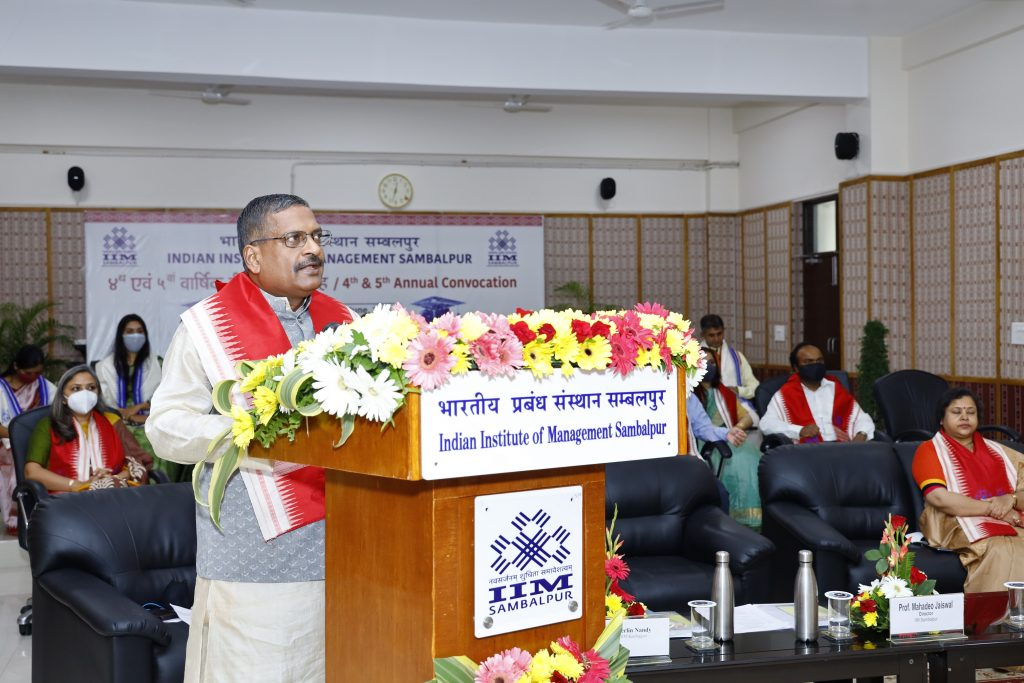 IIM Sambalpur conducts 4th & 5th annual convocation in the virtual mode 1