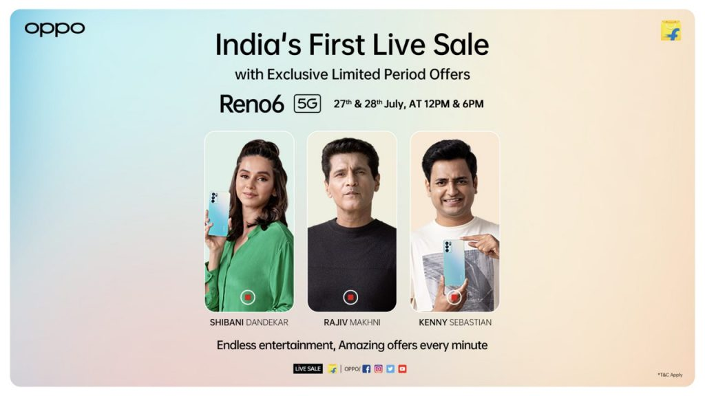 OPPO announces India's first Live sale with Reno6 5G 1