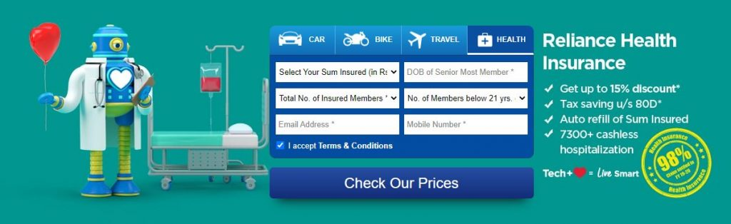 RELIANCE GENERAL INSURANCE INTRODUCES RELIANCE HEALTH SUPER TOP-UP POLICY WITH COVERAGE OF ₹1 Crore + 1