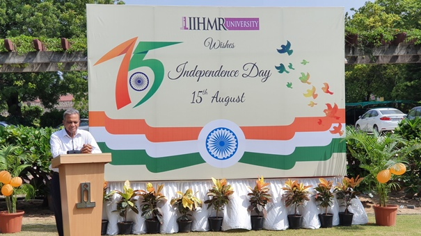 75th Independence Day Celebrated with a noble cause of tree plantation at IIHMR University, Jaipur 1