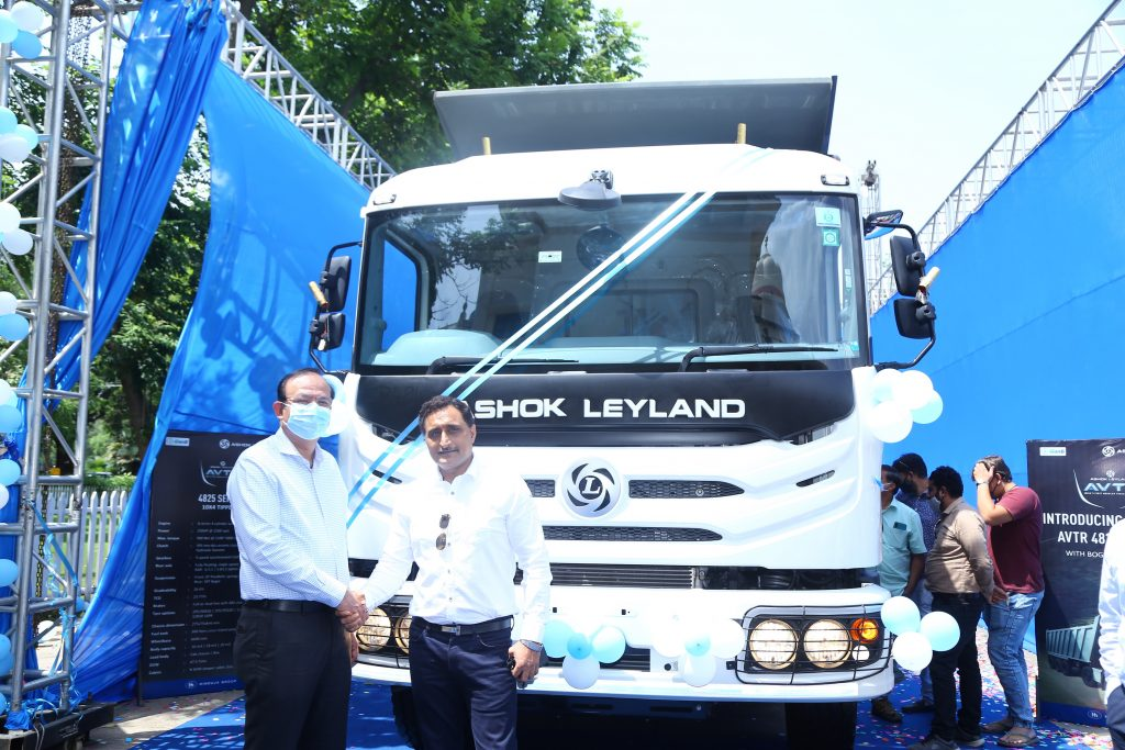 Ashok Leyland launches AVTR 4825 Tipper with heavy duty Bogie suspension 1