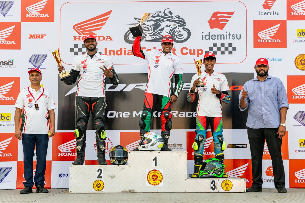 Young talent steals the show at Round 1 of IDEMITSU Honda India Talent Cup 1