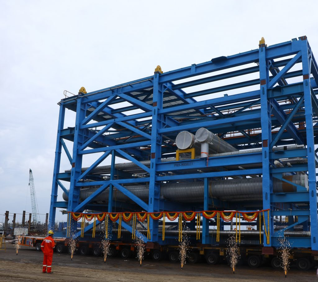 L&T Flags-off First Set of Piperack Modules to HPCL's Visakh Refinery 1