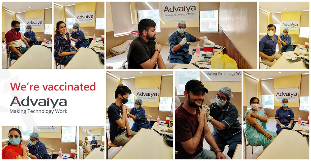 Vaccinations at campus for Advaiya employees and their family members 1