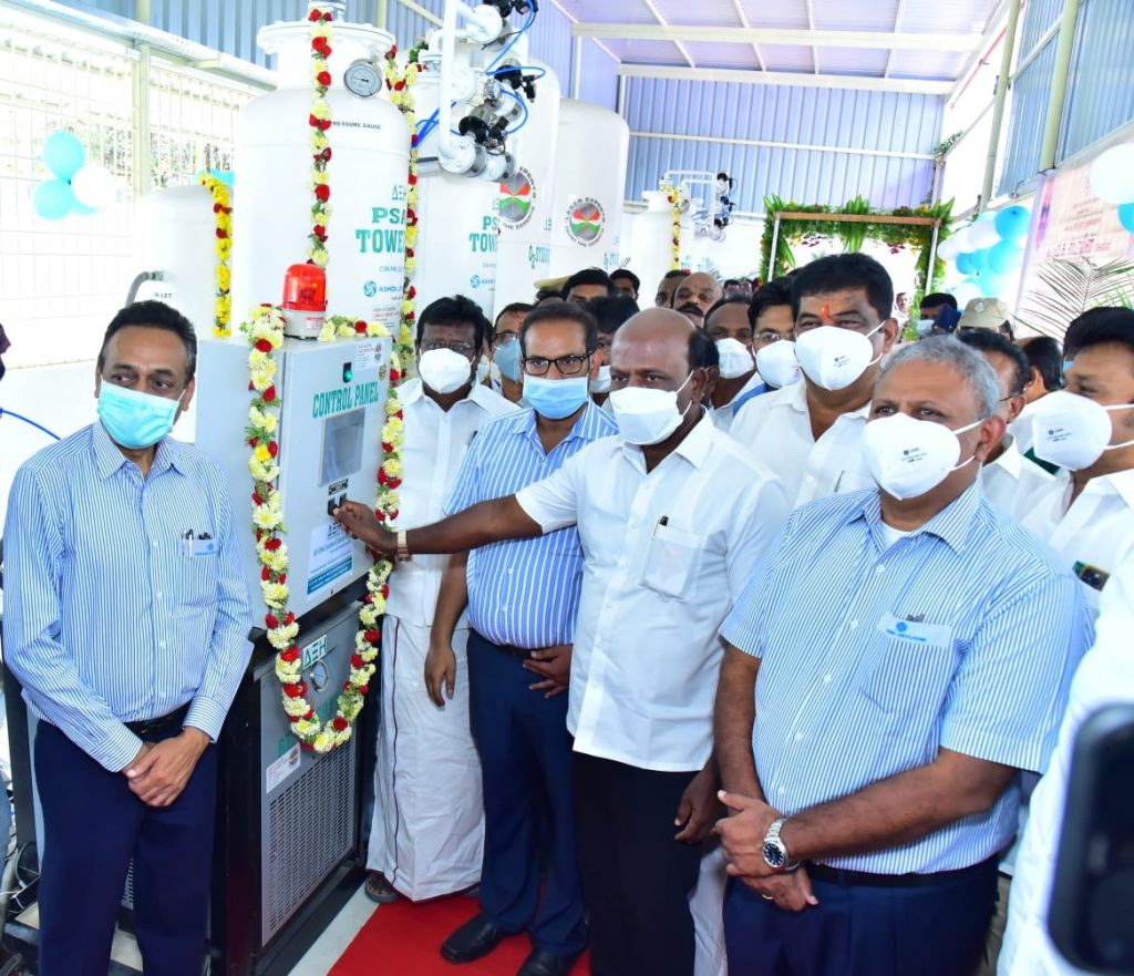 Minister for Health and Family Welfare inaugurates Oxygen Generator Plants set up by Ashok Leyland 1