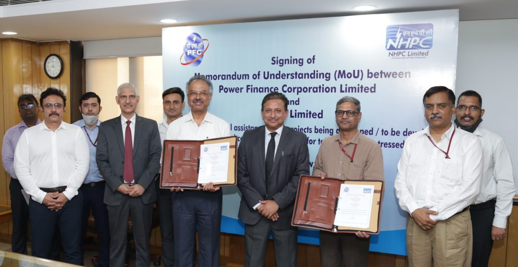 PFC in pact with NHPC to lend funds for the development of hydro projects 1