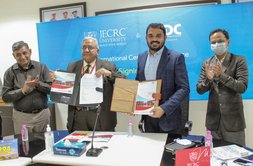 ISDC ties up with JECRC University for International Centre of Excellence 1