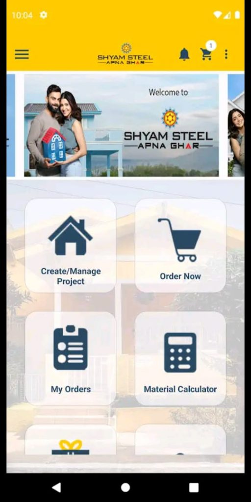 """Shyam Steel launches """"Shyam Steel Apna Ghar"""" Application (App) to address various needs of Individual Home Builders 1"""