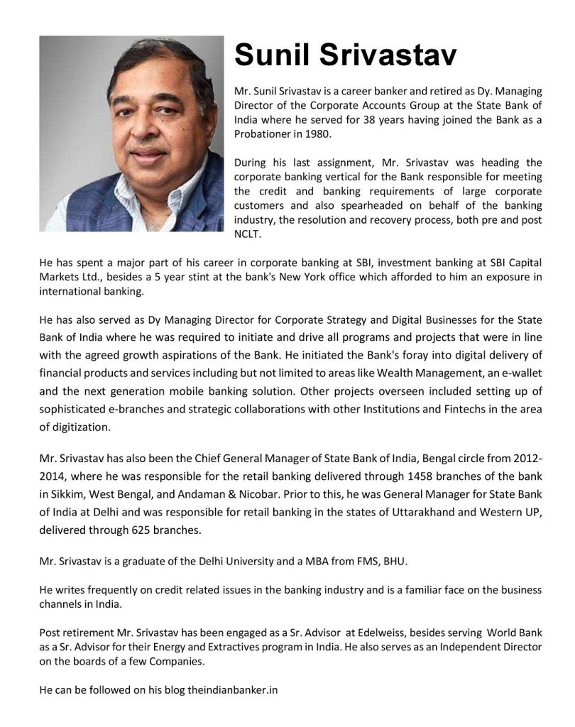 EBIXCASH ANNOUNCES APPOINTMENT OF EMINENT CAREER BANKER - SUNIL SRIVASTAV TO ITS BOARD OF DIRECTORS 1