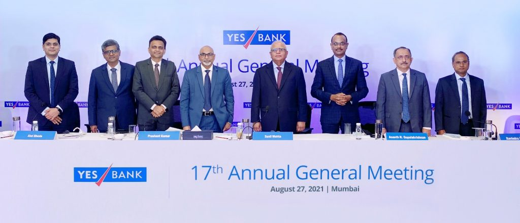 Shareholders fully support all Resolutions proposed by the Board of Directors of YES BANK 1