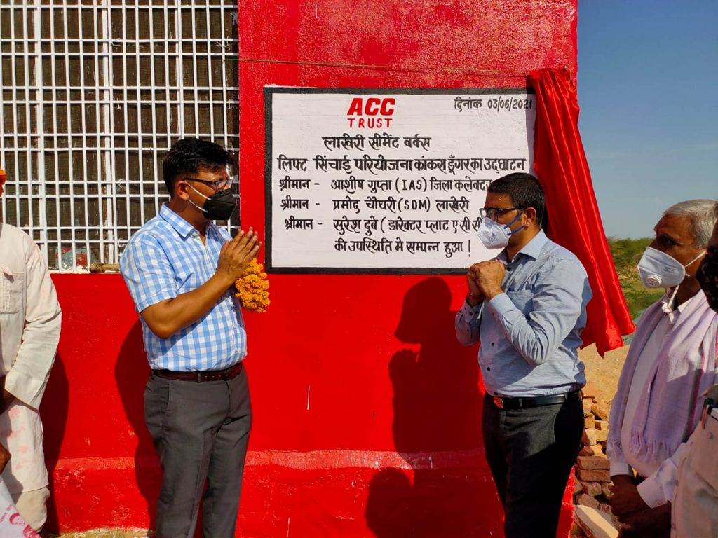 ACC Trust implements lift- irrigation in Rajasthan's Mej River 1