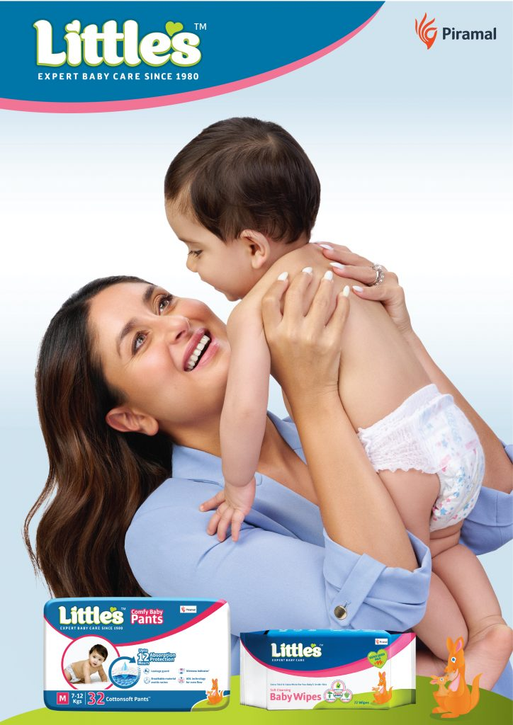 """Piramal Pharma Limited's Consumer Products Division ropes in Kareena Kapoor for its Baby brand """"Little's"""" -Baby Wipes& Comfy Baby Pants 1"""