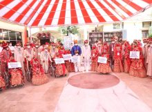 36th Mass Wedding by NSS witnessed 21 differently abled individuals urging people 'To Get Vaccinated' to fight against COVID-19 2