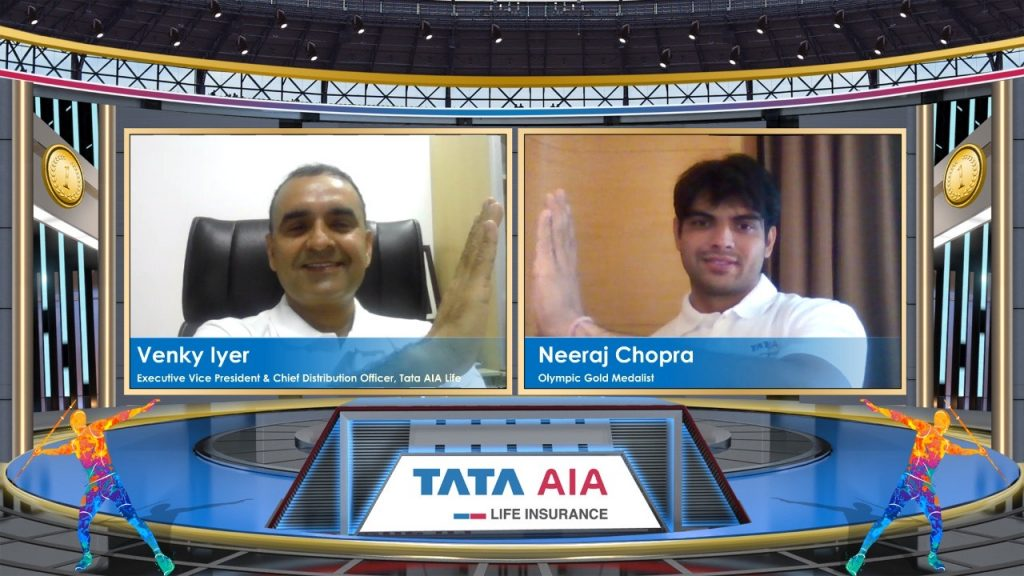 Neeraj Chopra, Olympic Gold Medallist signs first brand endorsement with Tata AIA post Tokyo Win 1