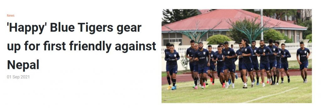 'Happy' Blue Tigers gear up for first friendly against Nepal 1