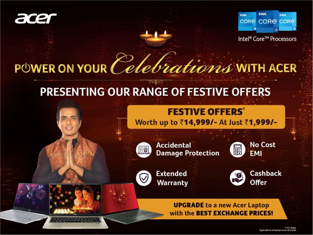 Acer India kick starts festive season with No Cost EMI, Exchange Offer and Cash backs 1